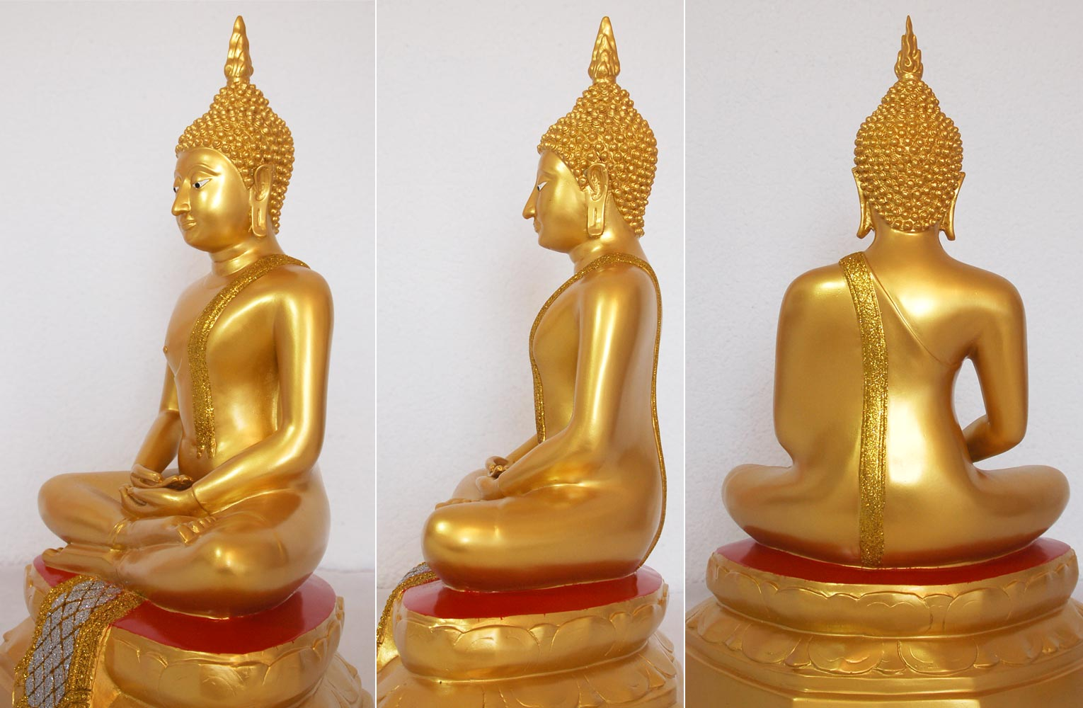 buddha tempelbuddha gold bis 114 cm statue figur meditation tempelw chter kaufen bei. Black Bedroom Furniture Sets. Home Design Ideas