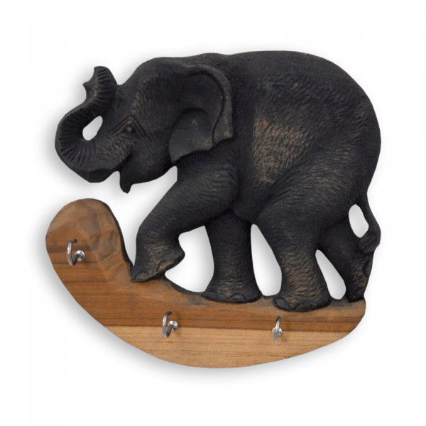 Decorative key board with elephant motif (left or right)