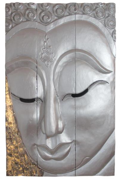 Buddha Relief Bild Dreiteilig ca. 85x52 cm