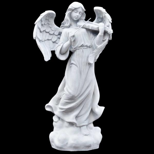 Steinguss Figur Engel spielt Geige