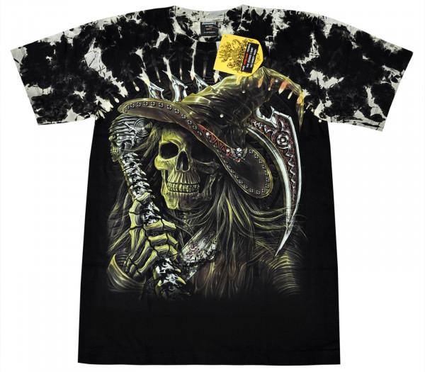 Skull Scythe Man Rivet Front