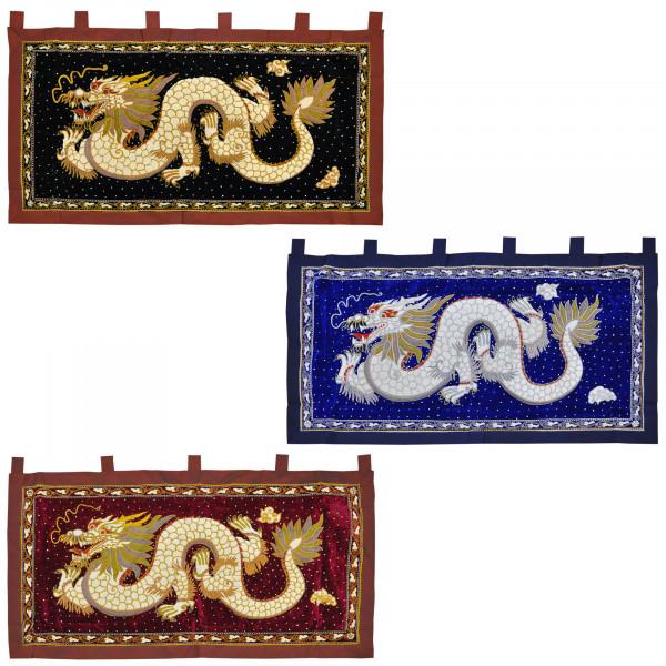 Wandbehang verschiedene Motive Blau Weiss Rot Gold 140x95 cm