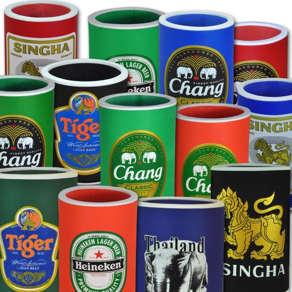 Refroidisseur de bouteille en néoprène motifs divers / Bières thaïlandaises