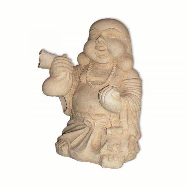 Springbrunnen Buddha lachend