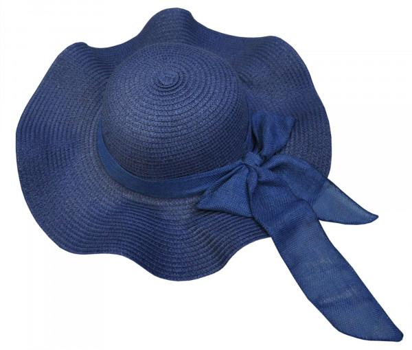 Schlapphut mit Schleife dunkelblau