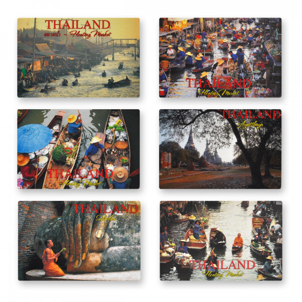 Flat magnet with photo from Thailand - Size: 8,5x5,5 cm