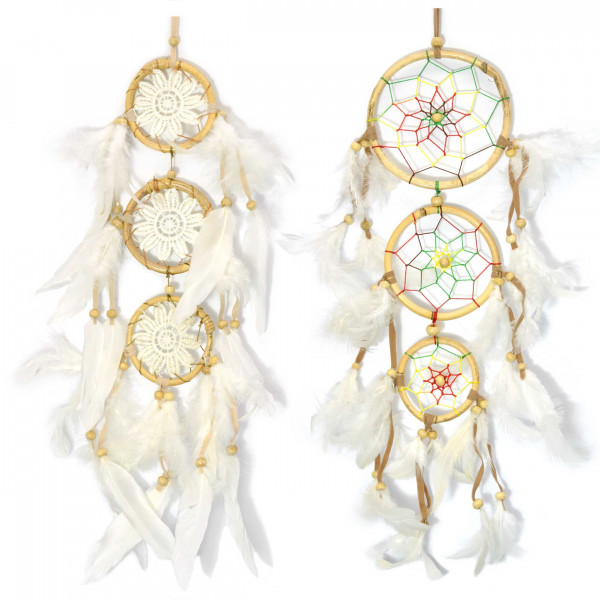 Big dream catcher white feathered, shipped from Germany