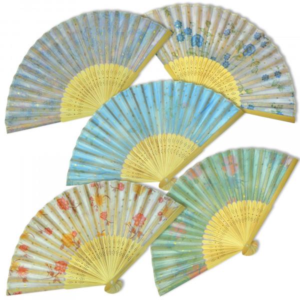 Bambus Handfächer Übersicht