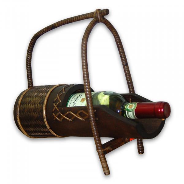 Weinflaschenhalter liegend