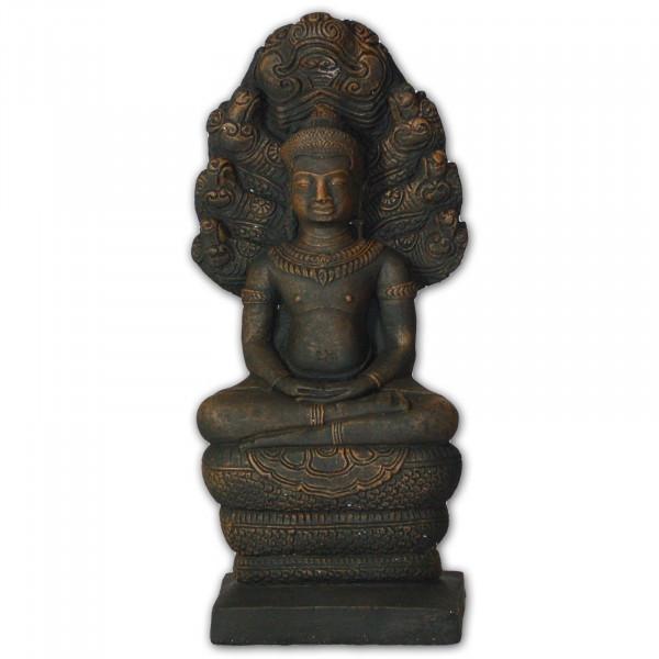 Naga Buddha in schwarz