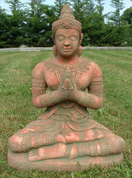 Buddha sitzend rot