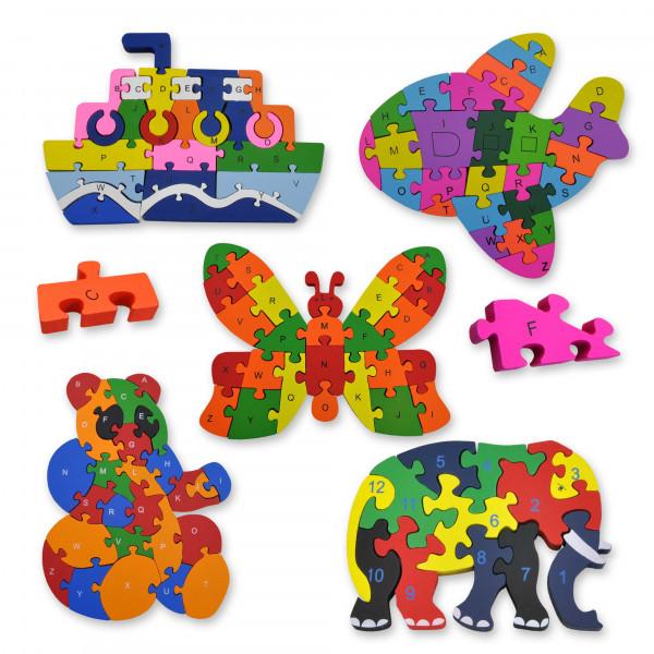 Holzpuzzle, für Kinder ab 3 Jahre