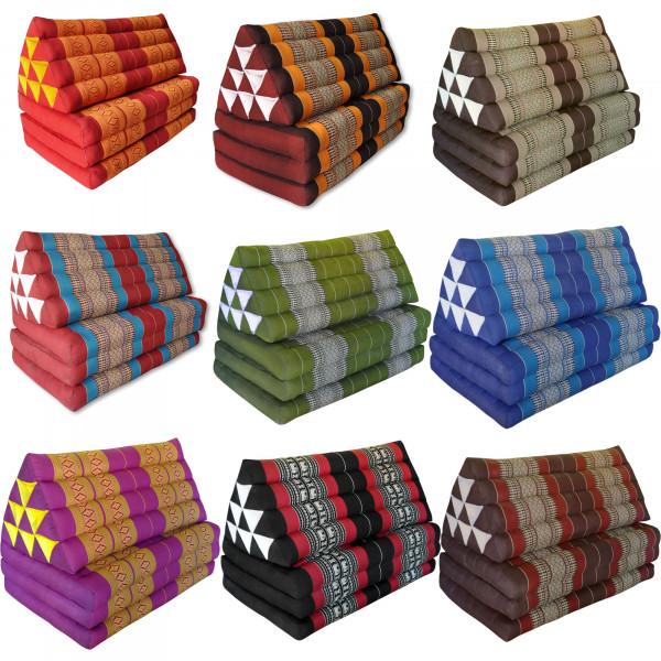 Triangular cushion with mattress 3 folds