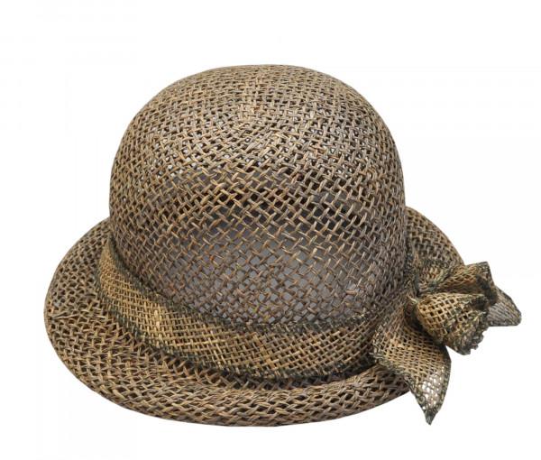 Glockenhut mit Blume am Hutband