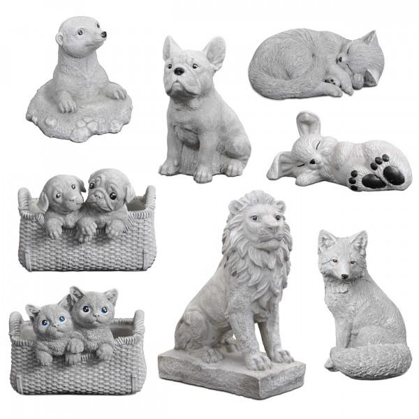 Statues animales, Chien Chat Renard Lion Lapin Souris