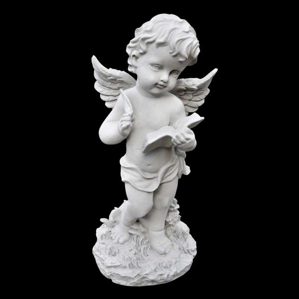 Steinguss Figur Engel mit Buch