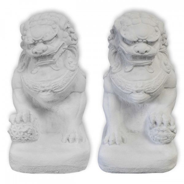 FU dog, Chinese Lion, Temple Guardian, male or female, casting stone