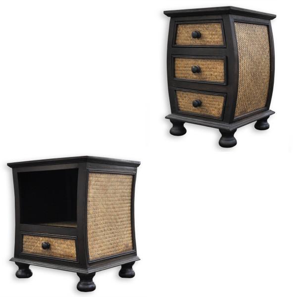 Petits meubles bois et rotin commodes, tables de chevets