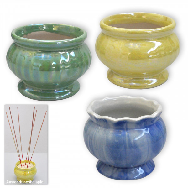 "Thai ""Joss Stick Pot"" vases"