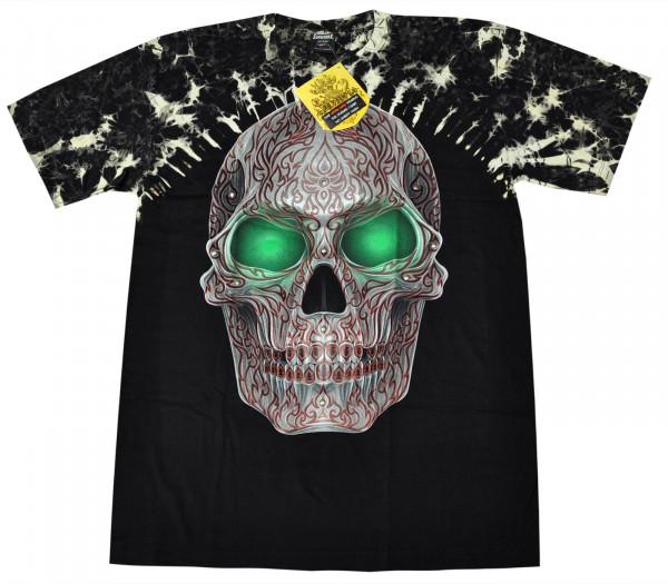 Green Eye Skull Rivet Front