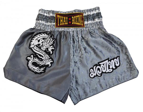 Muay Thai Boxing Shorts Grey