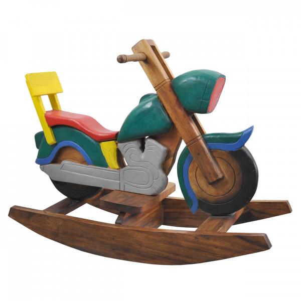 Moto à bascule en bois