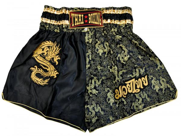 Muay Thai Boxing Shorts Schwarz/Gold