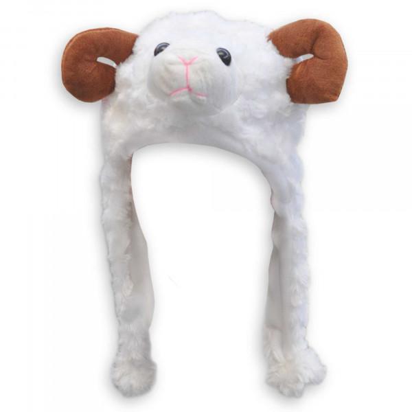 Wintermütze mit Ohrenschutz Schafbock