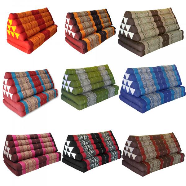 Triangular cushion with seat 2 folds