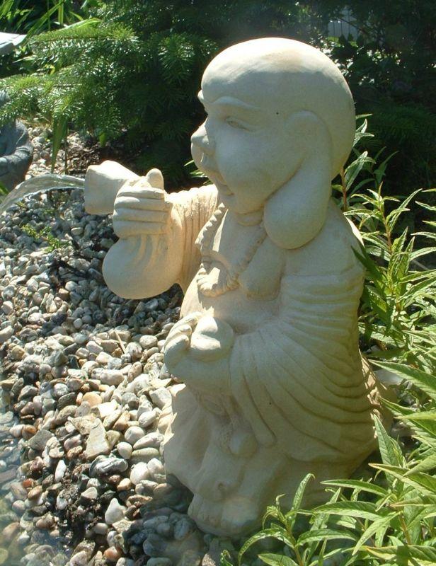 Lucky Buddha Steinfigur