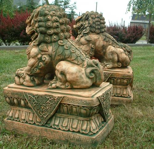 fu dog foo lion chinese thailand statue feng shui