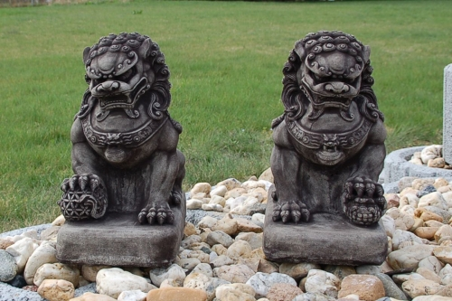 chien fu  foo lion chinois thailande statue feng