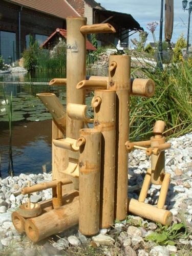 Jeu d 39 eau en bambou - Fontaine en bambou ...