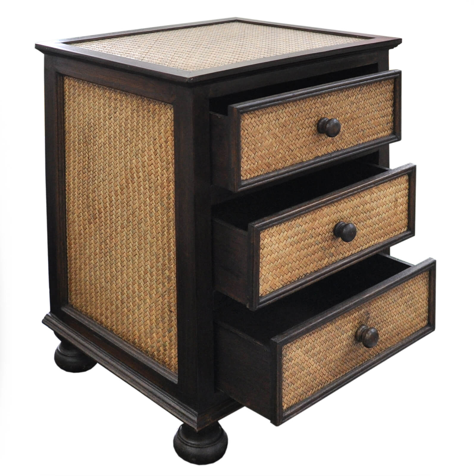 commodes table chevet meuble de rangement artisanal fabriqu en tha lande ebay. Black Bedroom Furniture Sets. Home Design Ideas