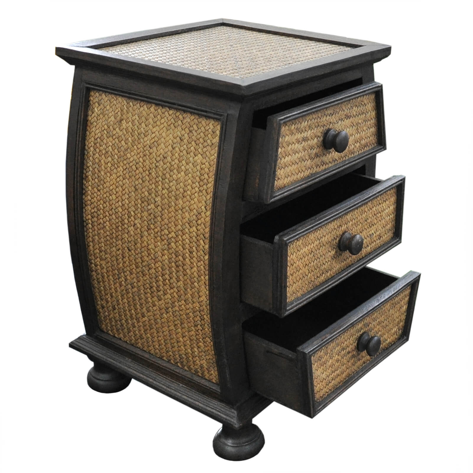 commodes table chevet meuble de rangement artisanal fabriqu en tha lande ebay. Black Bedroom Furniture Sets. Home Design Ideas