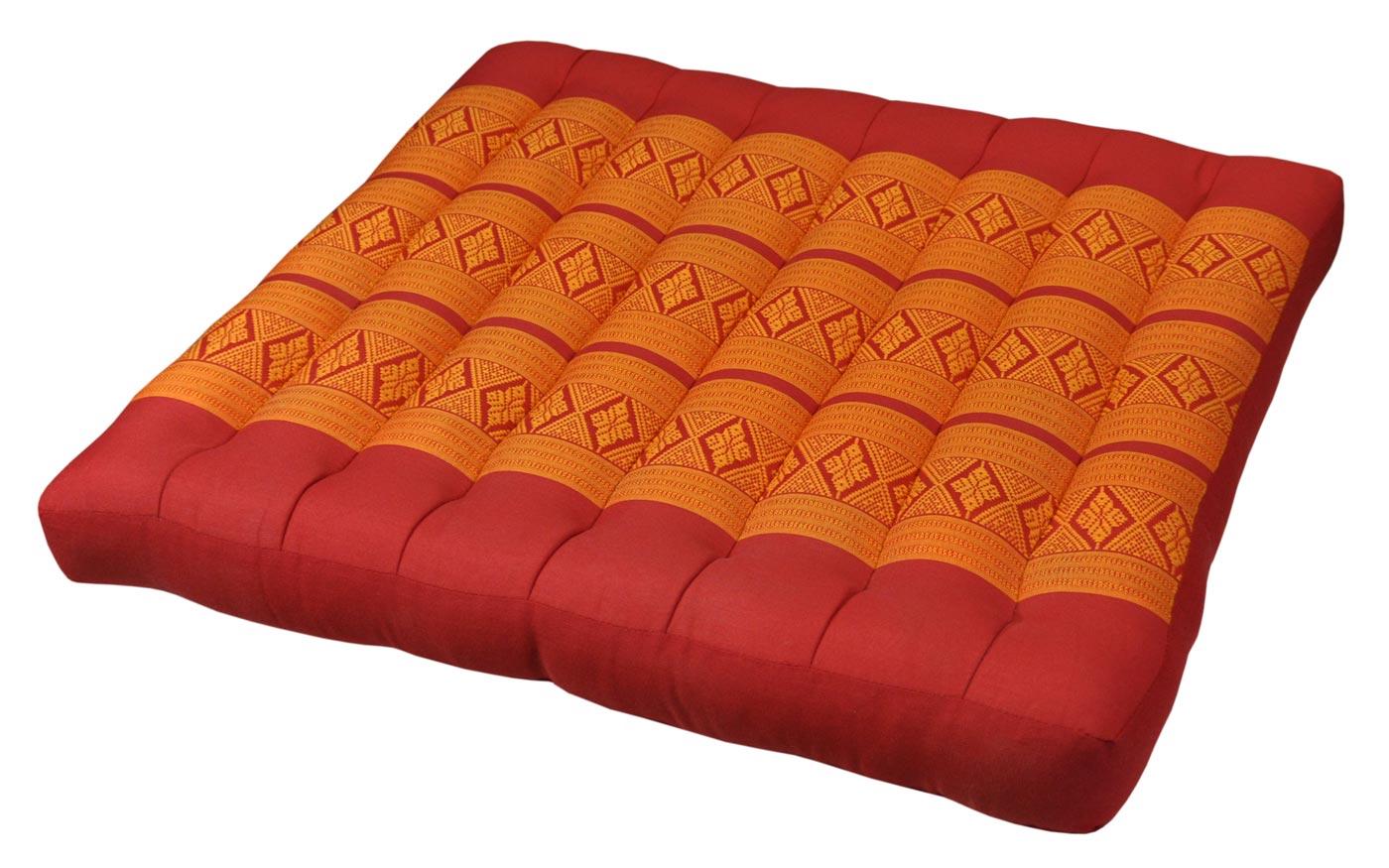 sitzkissen gro rot orange. Black Bedroom Furniture Sets. Home Design Ideas