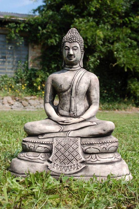Buddha Gartenfigur Steinfigur Stein Steinguss Brunnen Ebay