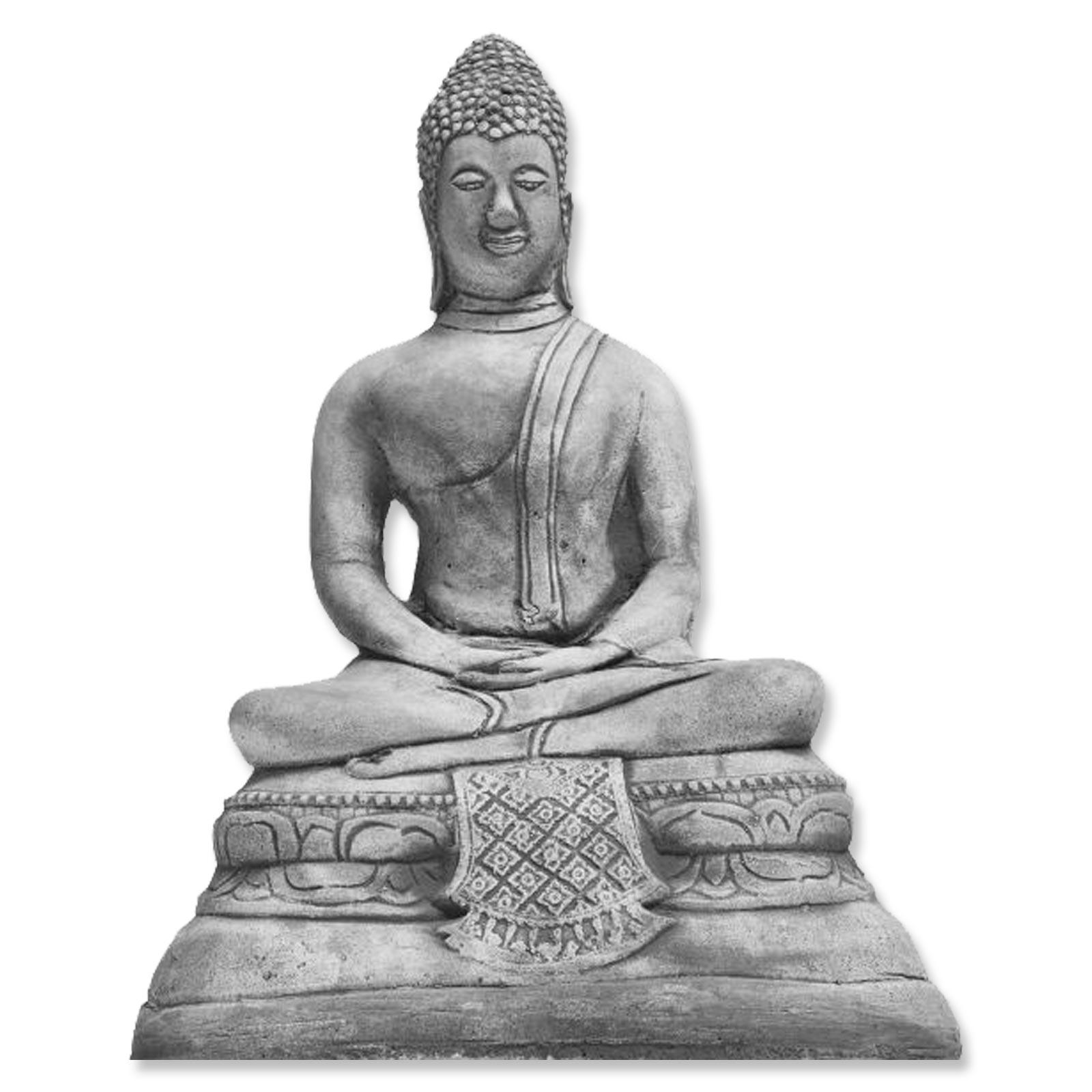 Buddha Gartenfigur Steinfigur Stein Steinguss Brunnen Art