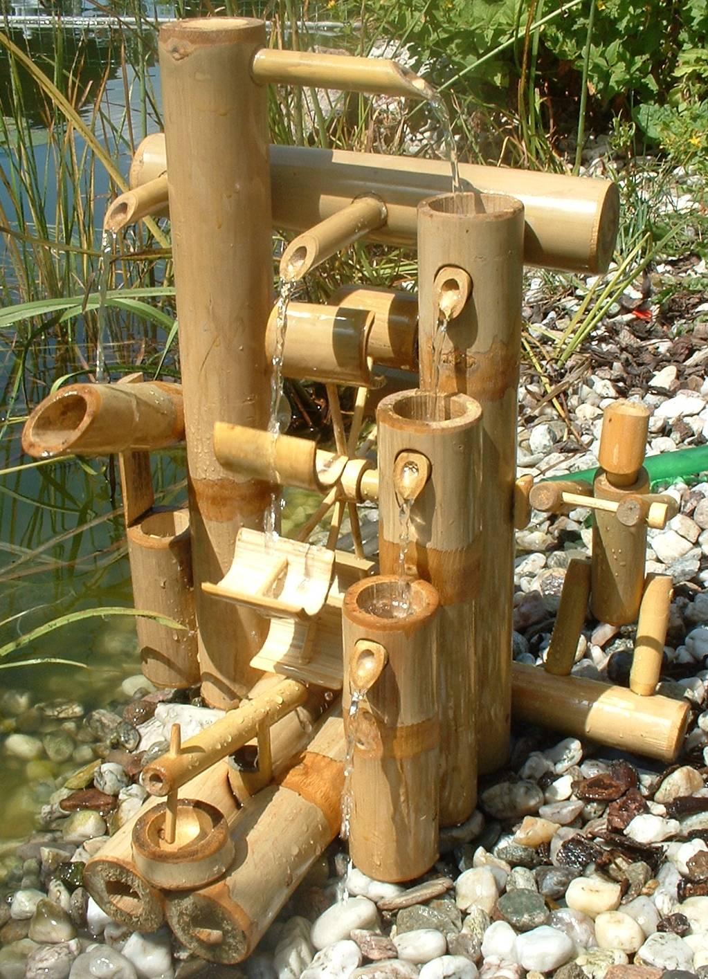 Fontaine bambou cascade jeu d 39 eau d coration jardin patio tha lande 12035 ebay - Fontaine en bambou ...