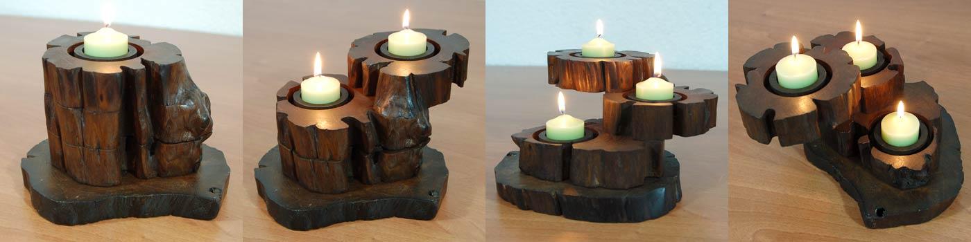 Kerzenstander kerzenhalter holz - Kerzenstander dekorieren ...