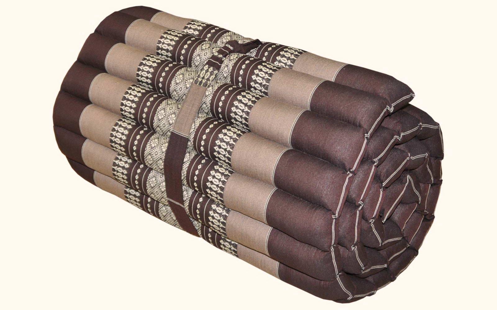Coussins thailandais oreiller matelas tapis kapok for Tapis de yoga avec canape sun