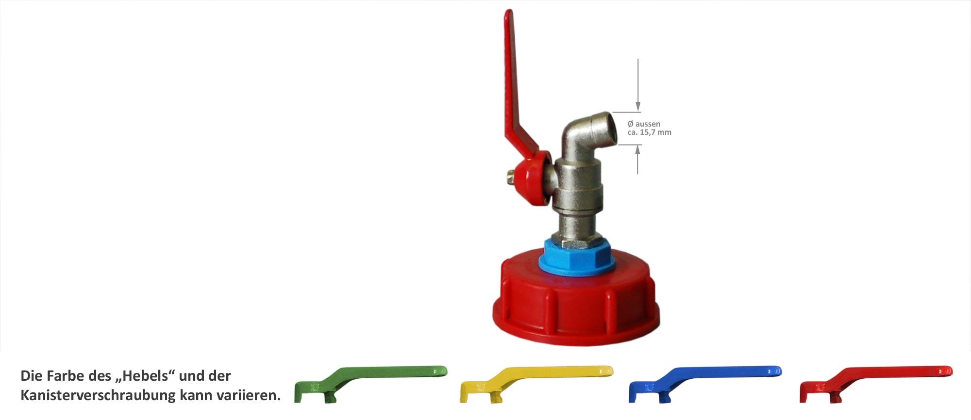 2er Set Kanister Ölkanister Plastikbehälter Zubehör Metallhahn Entlüftungshahn